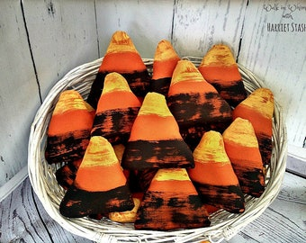 Primitive Candy Corn Bowl Fillers | Candy Corn ornaments | Fall Decor | Halloween Decoration | Wreath decor | Rustic Candy Corn