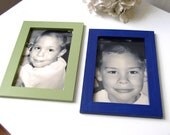 3 magnetic photo frames in Olympic Gold metallic paint