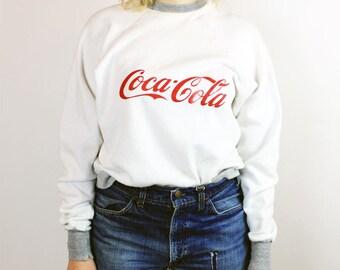Vintage Coca Cola White Pullover