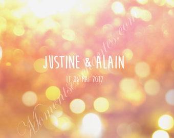 mariage décoration glitter Livre d'or alternatif panneau personnalisé signatures de vos invités