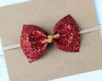Red Deluxe Glitter {MILLIE} Bow - Autumn 2017