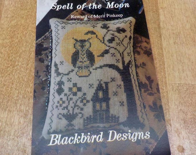 Spell of the Moon, Reward of Merit Pinkeep, by Blackbird Designs...cross-stitch design