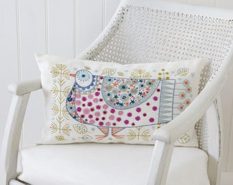 Pigeon Cushion Embroidery Kit