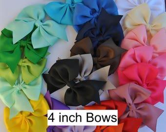 girls hair bows, 4 inch hair bows, hair bow set, toddler hair bows, hair bow lot, girls hair bows, pinwheel hair bows, 5 hair bows