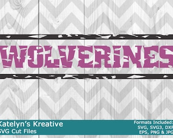 Wolverines Distressed SVG Files