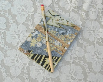 Lovely Notebook, Japanese paper design, Japanese washi paper on pencil, hand-crafted, vintage notebook