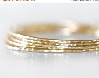 BACK 2 SCHOOL SALE Gold Bangles / Stacking Bangles / Nu Gold Bracelets / Chic Fashion Fresh Finds Hand Hammered / Unique / Fashion Trend / G