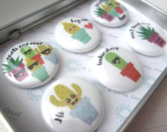 Fun Cactus Succulent Magnet Set, cactus lover, can't touch this