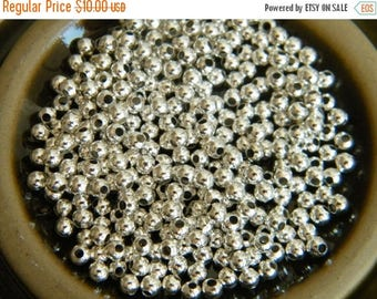 ON SALE 500 x Silver Spacer Beads Brass Bead 3mm