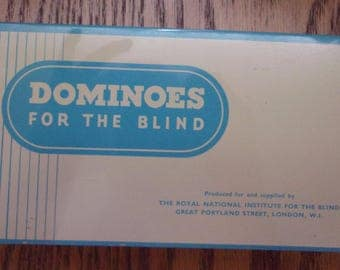 Vintage - Dominoes For The Blind by The Royal Institute For The Blind - Braille
