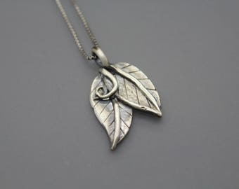 Cremation Necklace, Leaf Jewelry, Cremation Jewelry, Memorial Jewelry, Cremation Ash Jewelry, Bereavement Necklace, Pet Memorial, Pet