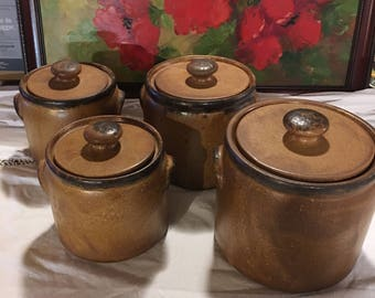 McCoy 1420 Vintage canister set Mesa canyon