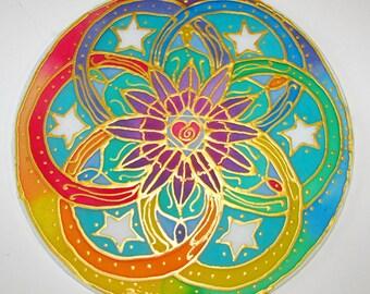 Seed of Life Chakra Mandala,rainbow mandala, mandala art, spirtual gift, chakra art, reiki art, yoga art, sacred geometry, meditation,