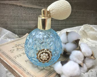 Vintage Atomizer Perfume Bottle - Perfume Bottles - Collectibles - Antique Bottles - Atomizers - Vintage Decor - Shabby Chic - Gifts