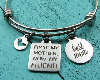 best Mom gift bracelet, Mother of the bride gift from daughter, Mom birthday gift, Christmas, Mother's Day jewelry, wedding gift for Mom