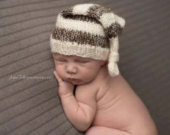 Knitted baby boy hat -
