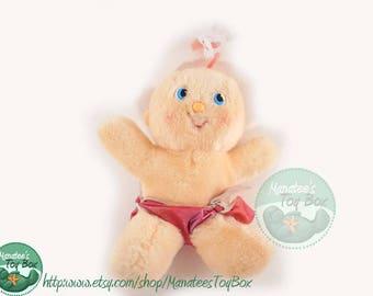 1980s Toy Hugga Bunch Doll Baby Huglet Hug-a-Bye w/ Pink Hair
