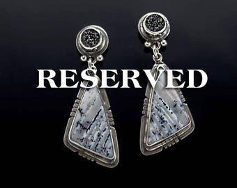 RESERVED - Etched in Stone - Sterling Silver Earrings