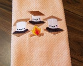 S'mores embroidered towel