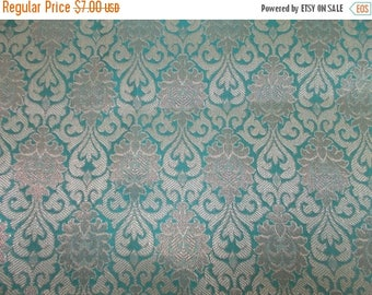 15% off on Half yard of Indian brocade fabric with a Regal pattern in pastel blue/Benarasi brocade/ Indian sari fabric/home accents fabric