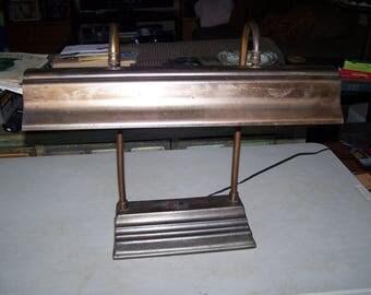 Vintage Mid Century Banker's Florescent Desk Lamp