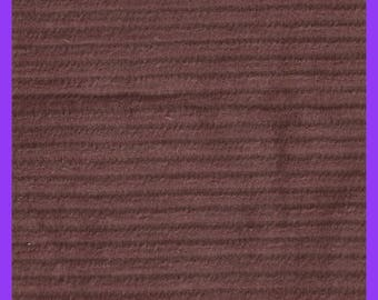 Brown Corduroy Wide Wale Cotton Fabric Remnant Half Yard