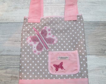 Tote bag, personalized for Solea library bag