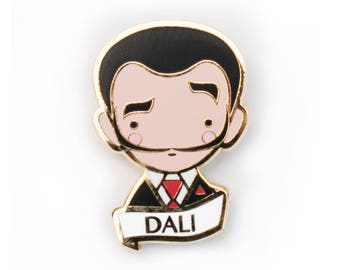 Salvador Dali Pin Brooch