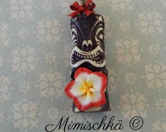 necklace tiki tikki exotic flower pin up