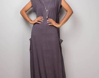 Grey dress, grey maxi dress, T shirt dress, turtleneck dress, tube dress, long grey dress : Urban Chic Collection No.34