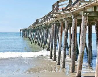 Beach Pier Photography, Fine Art Print, Ocean Photography, Travel Photography