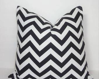 SPRING FORWARD SALE Black & White Zig Zag Chevron Pillow Covers Throw Pillows Decorative All Sizes