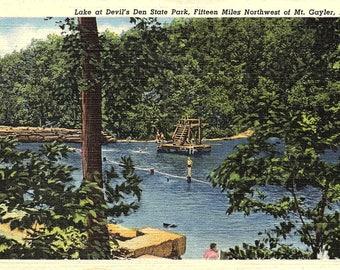 Mt. Gayler, Arkansas, Devil's Den State Park, Lake - Vintage Postcard - Postcard - Unused (Q)