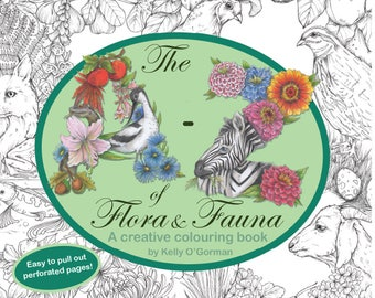 The A-Z of Flora and Fauna - A creative colouring book by Kelly O'Gorman