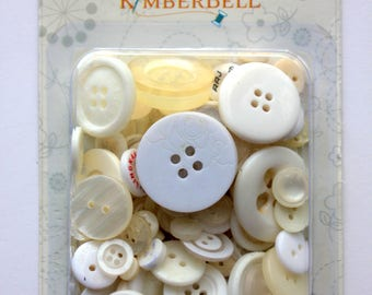KimberBell White and Cream Button Collection