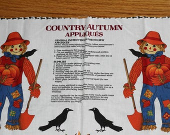"""No Sew Appliques for Making Scarecrows 