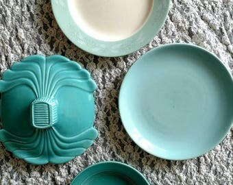 Turquoise Decorative Plate Wall Set