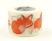 Red Fox - Japanese Washi Masking Tape - 28mm wide - 11 Yard - no discount