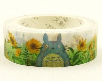 Totoro 009 - Japanese Washi Masking Tape - 7.6 yards