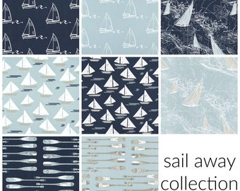 Sail Away Collection. Sailing Drapery Panels. Pair of Two. 63 84 90 96 108 Length. Custom Window Treatments. Beach. Nautical.  Boating.