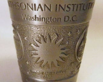 SMITHSONIAN Institute Souvenir Cup / Vintage PEWTER - Metal / U.S.A. Made / Nice Relief