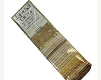"12% off thru July ESSENTIAL GEMS ""Jelly Roll"" Wilmington fabric 24 2.5 inch strips Vanilla Cream ivory beige tan blenders tone on tone"