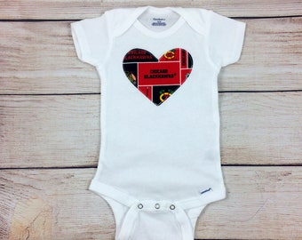 Chicago Blackhawks Girls Bodysuit or Toddler Shirt