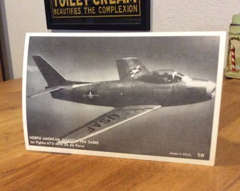 North American Aviation F86 Sabre US Air Force exhibit postcard