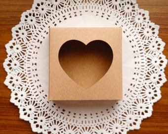 10 Paper krafts boxes for party , gift, soap ,souvenir,handmade items
