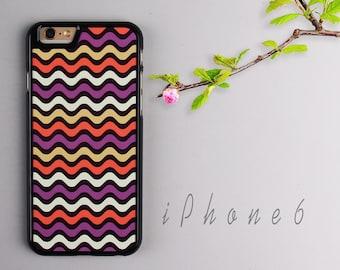 Wave iPhone 6 case, Black iPhone 6s Plastic case, iPhone 6s PC cover - HTPC621