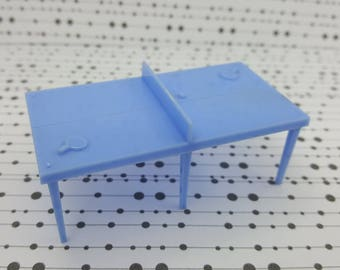 Marx Rec Room  Rumpus Room Blue Ping Pong table Toy Dollhouse Traditional Style Hard Plastic