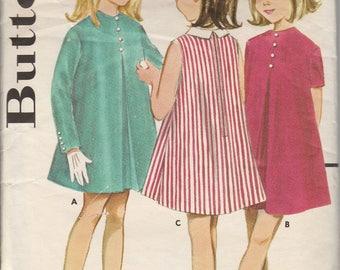 1960's Sewing Pattern Butterick 2989 girls Skimmy dress size 10