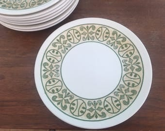 Vintage Bread and Butter/Salad Plates in Avocado Green