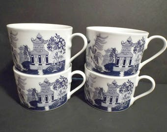 Vintage Willow Flat Base Cups 4 in collection By Bristol House